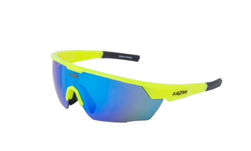 Lazer+Eddy+fietsbrillen+Gloss+Flash+Yellow