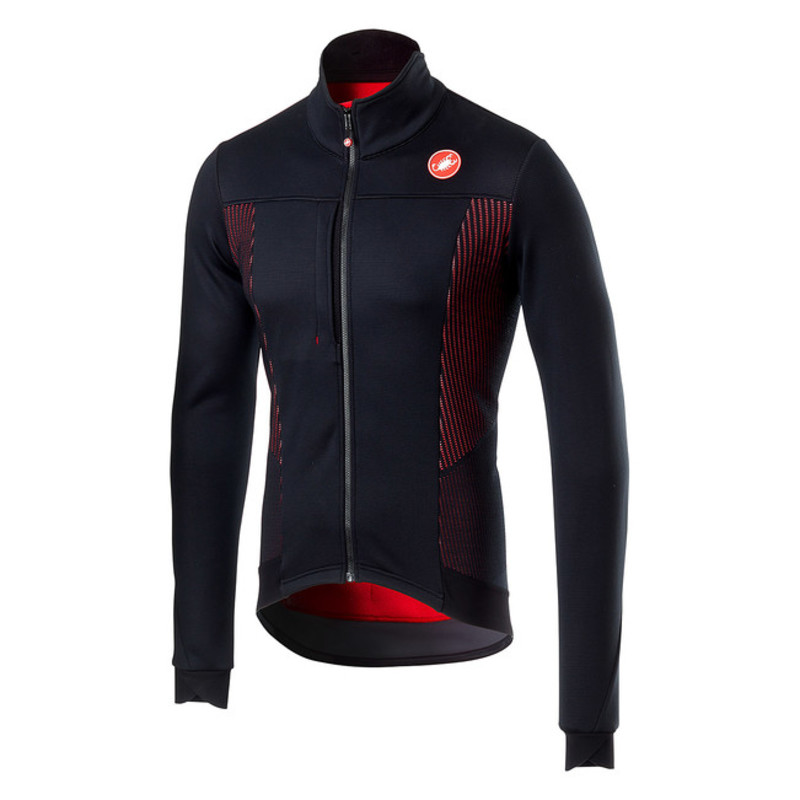 Castelli+Espresso+V+Jacket+fietskleding+light+black+red
